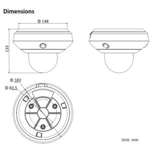 PTZ-P332ZI-DE3 - Dimension