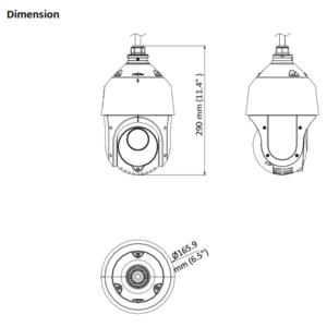 PTZ-T4225I-D - Dinension