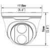 Uniview UNV IPC3618LR3-DPF28 MS 8MP IP IR Fixed Turret Camera - Dimension