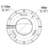 Uniview UNV IPC3618LR3-DPF28 MS 8MP IP IR Fixed Turret Camera - Mouting Dimension