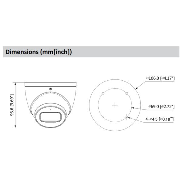 DH-IPC-HDW3441EMP-AS Dahua – Dimension1