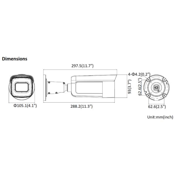 DS-2CD2685G1-IZS Hikvision Dimensions (2)